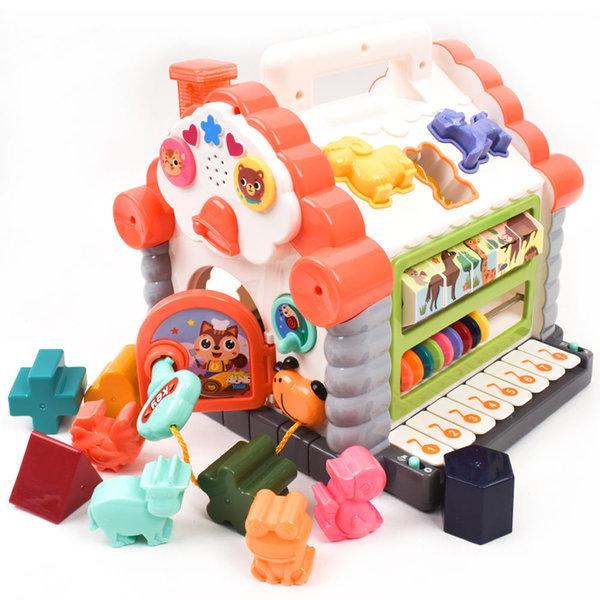 피아노 퍼즐 하우스/도형 동물 모양 끼우기/돌 선물 상품이미지
