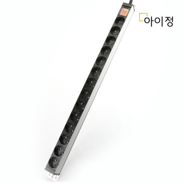 (현대Hmall) 현대일렉트릭 아이정 알루미늄 멀티탭 콘센트 서버탭 14구 1.5M 상품이미지