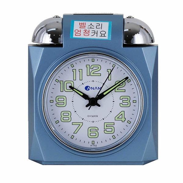 탁상시계 소리큰알람시계 시끄러운알람시계 H752 블루 상품이미지