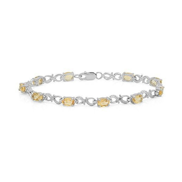해외쇼핑/Dazzlingrock Collection Ladies Infinity Link Bracelet  Sterling Silver 상품이미지