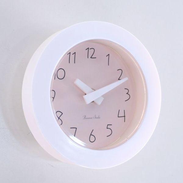 파스텔 이중흡착 욕실시계 (핑크) 상품이미지