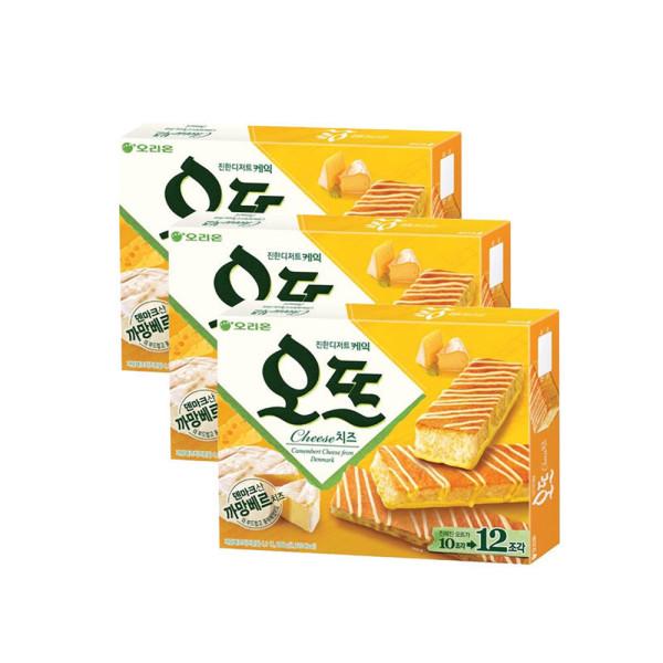 오리온 오뜨 치즈 12P 288g x3박스 상품이미지