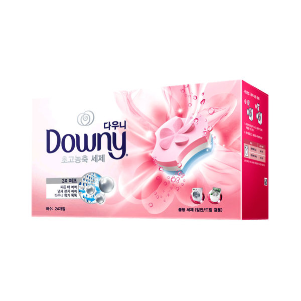 다우니 프리미엄 세탁세제 폼형 핑크 24개입 2개 상품이미지