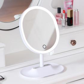 뷰티링 LED 거울 핑크 조명 화장거울