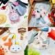 DIY 토끼 가죽 열쇠고리 만들기 바느질 재료 핑크