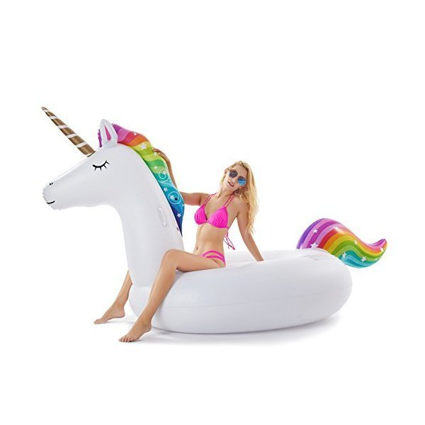 해외쇼핑/Jasonwell Giant Inflatable Unicorn Pool Float Floatie Ride On with Fast Valves Large Rideab 상품이미지