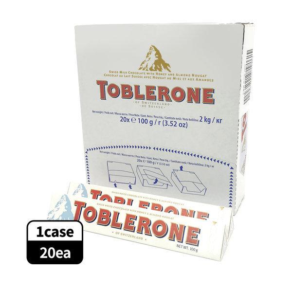 토블론 스위스 화이트 초콜릿 100g (1통-20개) 상품이미지