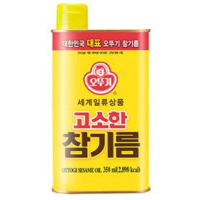 오뚜기 고소한 참기름 350ml 통참깨만 사용
