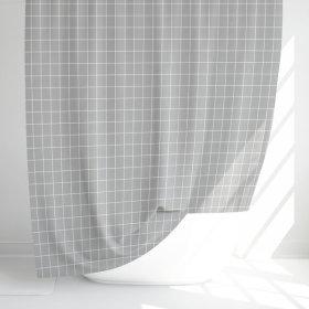 패브릭 샤워커튼-체크무늬-그레이/커텐 블라인드 욕실