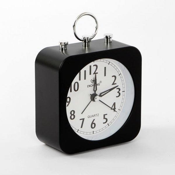 퀴리 무소음 알람 탁상시계(블랙) 상품이미지