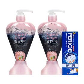 치약 핑크솔트 펌핑치약 플로럴민트 285gX2개