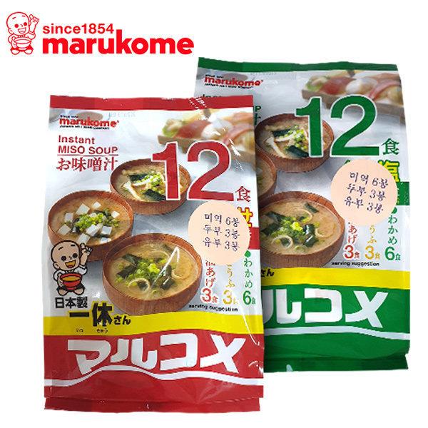 일본 마루코메 즉석 미소국 12입 3가지맛 2종中선택 상품이미지