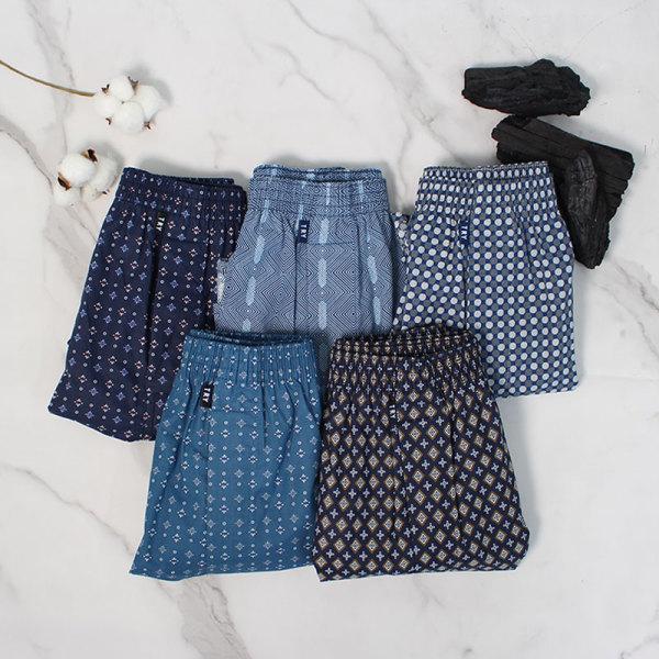 활력 숯 트렁크/박서/순면/남자팬티/남성속옷 5종세트 상품이미지