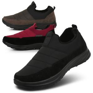 [쌈지]남성 패딩 퍼슬립온 겨울털신발 따뜻한신발 방한화