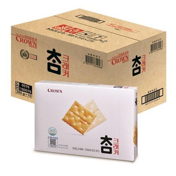 크라운 참크래커 1박스 (280g X 10개입) 상품이미지