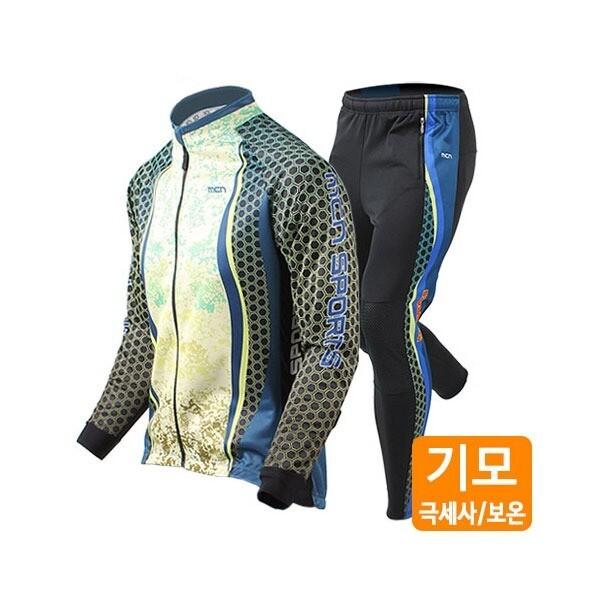 (현대Hmall)MCN 방한기모 허니콤 자켓+바지 겨울 자전거의류세트 상품이미지