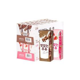 맛있는우유GT 딸기우유 24팩 + 초코우유 24팩