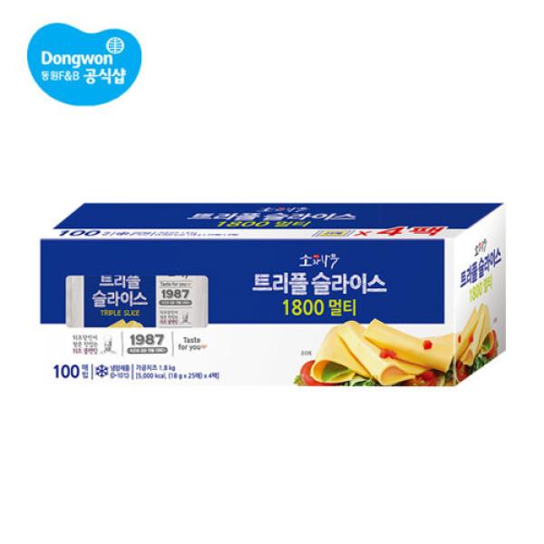동원 소와나무 트리플 슬라이스 치즈 1.8Kg(100매입) 상품이미지