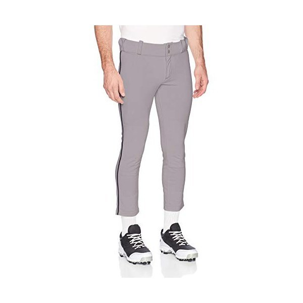 해외쇼핑/Alleson Ahtletic Mens Baseball Pants with Braid  XX-Large  Grey/Navy 상품이미지