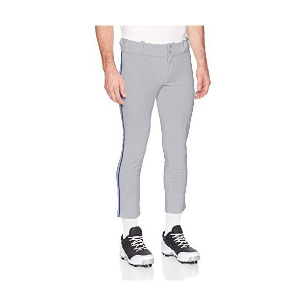 해외쇼핑/Alleson Ahtletic Mens Baseball Pants with Braid  Grey/Royal  X-Large 상품이미지