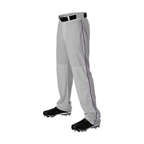 해외쇼핑/Alleson Ahtletic Mens Baseball Pants with Braid  3X-Large  Grey/Purple 상품이미지