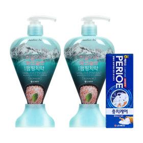 치약 핑크솔트 펌핑치약 아이스민트 285gX2개