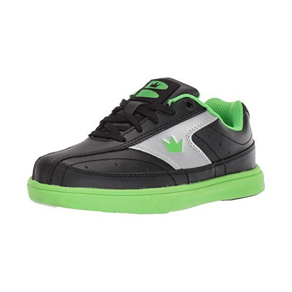 해외쇼핑/Brunswick Youth Renegade Bowling Shoes- Black/Neon Green 상품이미지