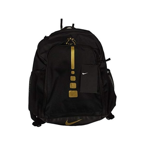해외쇼핑/Nike Youth Girls Hoops Elite Basketball Backpack EYBL Black Gold 상품이미지