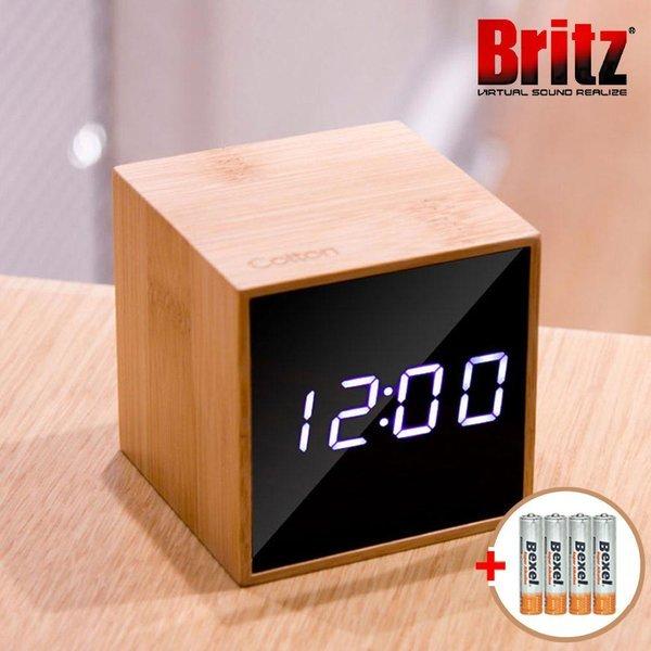 BZ-EW561 BAMBOO 대나무 LED 알람시계 탁상 온도기능 상품이미지
