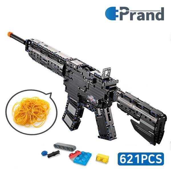 중국 레고 호환 블럭총 M4A1 브릭건 조립식장난감총 상품이미지