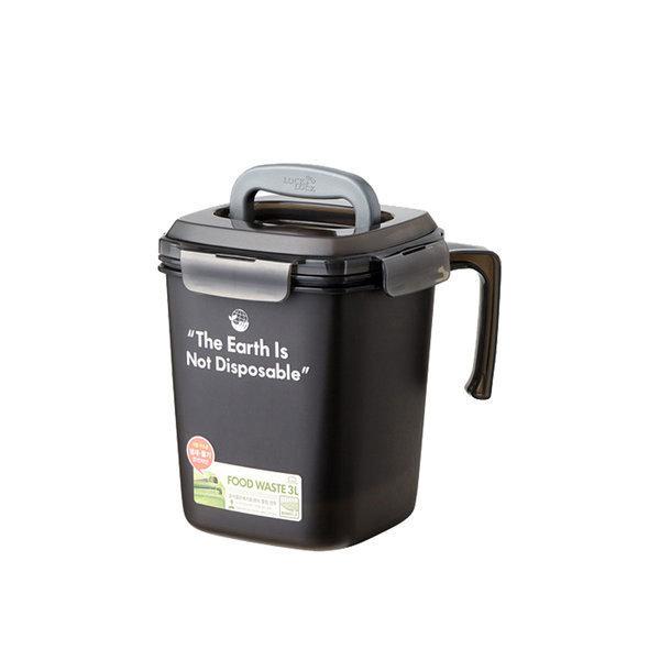 음식물 쓰레기통 3L 그레이 1개 상품이미지