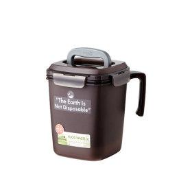 음식물 쓰레기통 3L 브라운 1개