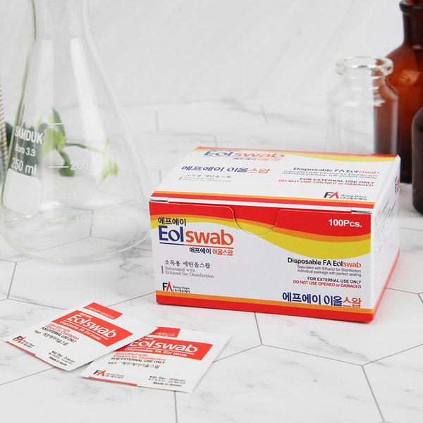 에프에이 소독용 알콜솜 이올스왑 100매  개별포장 상품이미지