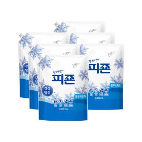 피죤 섬유유연제 리필 2300ml  블루비앙카 6개 +사은품