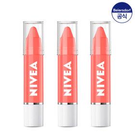 니베아 립케어 립 크레용 코랄블러썸 3g 3개