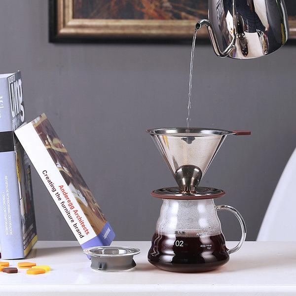 노필터 커피 드리퍼 핸드드립 스텐 드리퍼 그라인더 상품이미지