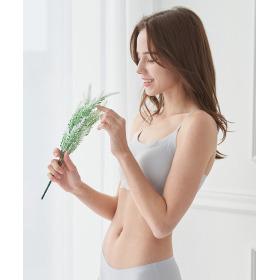 [INNERism] No-wire Seamless Bra Top 1 + Panties 2 Underwear Set