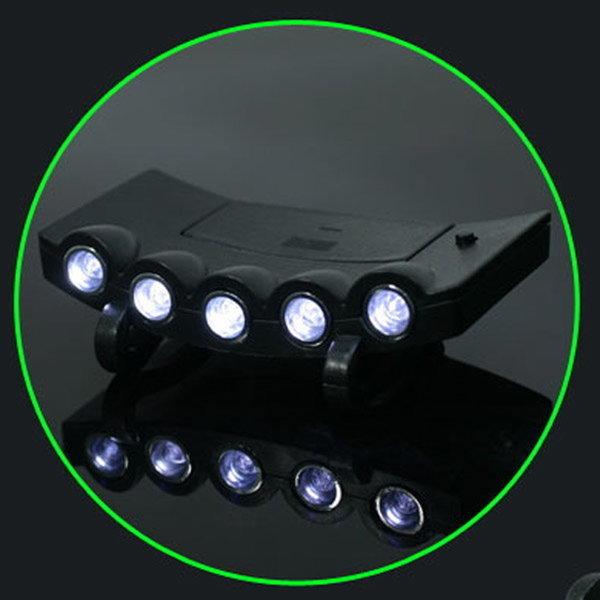 야간 낚시용 LED (4구) (5구) 캡라이트/후레쉬 랜턴 상품이미지