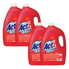 액츠파워젤 액체세제 세탁세제 일반용 4.21L 4개