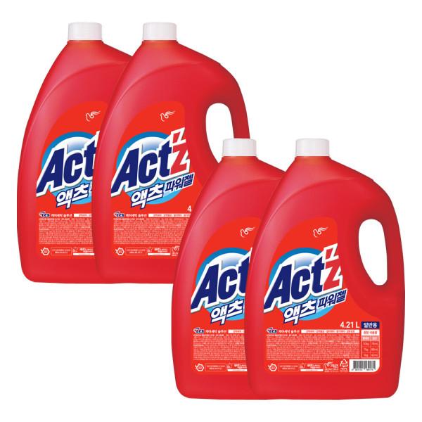 액츠파워젤 액체세제 세탁세제 일반용 4.21L 4개 상품이미지