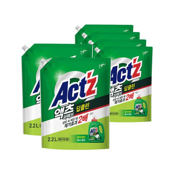 액츠퍼펙트 액체세제 세탁세제 베이킹소다리필2.2L5개 상품이미지