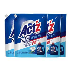 [피죤]액츠 퍼펙트 액체세제 세탁세제 안티박 리필 2.2L 5개