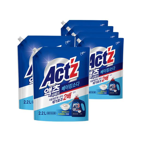 액츠 퍼펙트 액체세제 세탁세제 안티박 리필 2.2L 5개 상품이미지