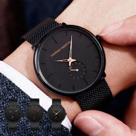 남성 패션 손목 시계 전자 남자 여성 메탈 커플