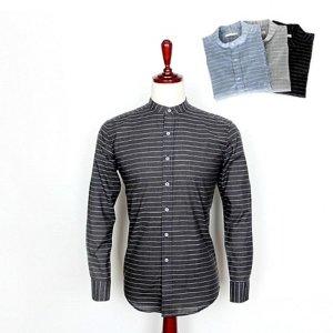 남자셔츠 스트라이프 롤업 헨리넥 셔츠 J0416012 롤업 상품이미지