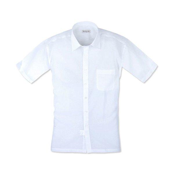 레귤러 다사란 여름 반팔 셔츠 화이트 남자와이셔츠 상품이미지