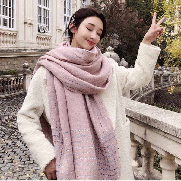 여성 봄 가을 겨울 무지 머플러 숄 스카프 목도리 상품이미지