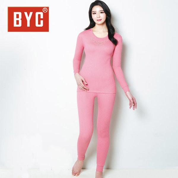 BYC여성 내복 에어베이직 상하 Q0490-핑크피치/BYC내 상품이미지