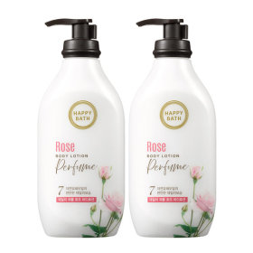 Happy Bath/Rose/Moisture/450ML/X2