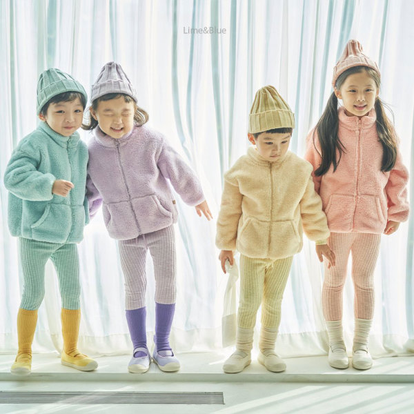 겨울신상 유아 아동 후리스 점퍼 집업 /라임/XS~XL 상품이미지